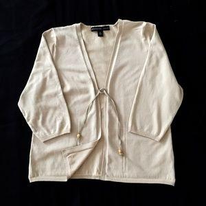 NWOT/JOSEPHINE CHAUS Light beige Cardigan/XL